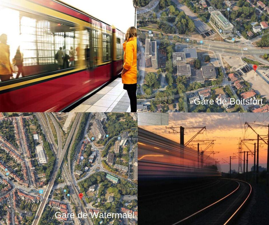 Les avancées des travaux RER à la gare de Boitsfort et de Watermael